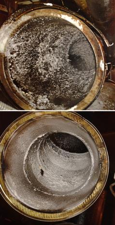 Conducto humos antes de su limpieza por Lidas